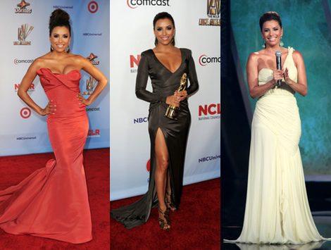 Eva Longoria y sus distintos cambios de look durante la gala