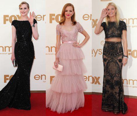 Evan Rachel Wood, Jayma Mays y Gwyneth Paltrow en los Emmy 2011