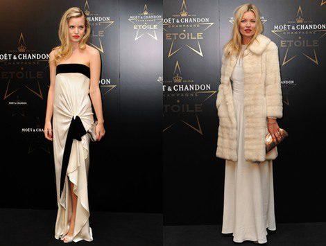 Kate Moss y Candice Swanepoel: duelo de elegancia en los Moët & Chandon Étoile