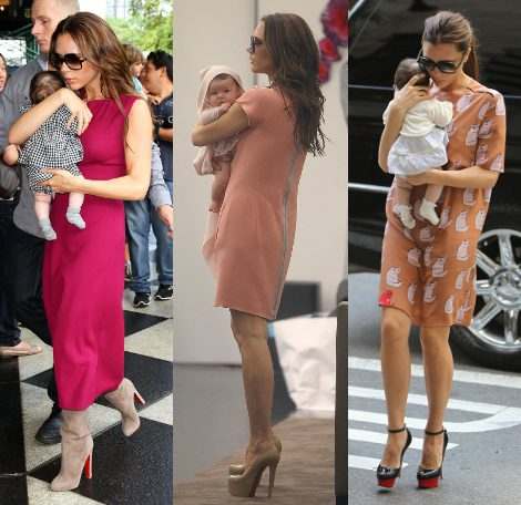 Looks de Victoria Beckham con su hija Harper Seven