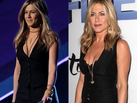 Jennifer Aniston, con el mismo modelito en el estreno de 'Five' y los People´s Choice