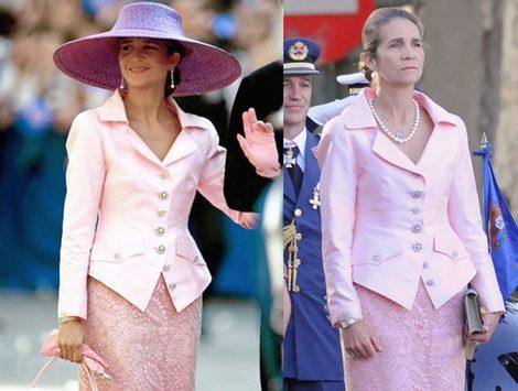 La Princesa Letizia, la Infanta Elena y la Reina Sofía reciclan su trajes del Día de la Hispanidad