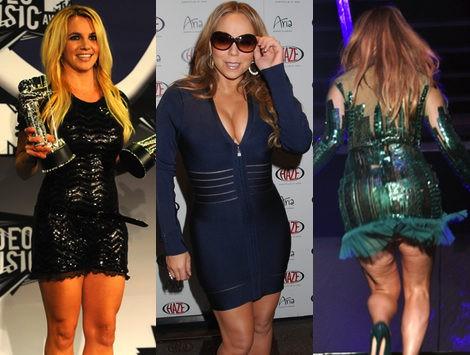 ¿Talla 36 ó 40? Las celebrities se embuten en vestidos dos tallas menores
