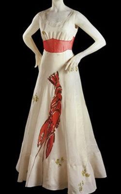 Vestido langosta de Schiaparelli, colaboración con Dalí