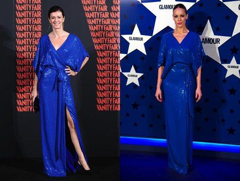 El vestido azul klein de Diane von Furstenberg causa furor entre las celebrities