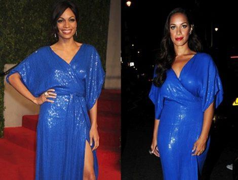 =El vestido azul klein de Diane von Furstenberg causa furor entre las celebrities