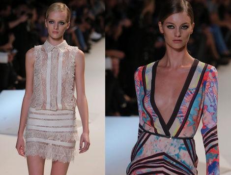 Elie Saab apuesta por los vestidos camisetos y los estampados multicolor