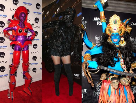 Algunos de los disfraces de Heidi Klum
