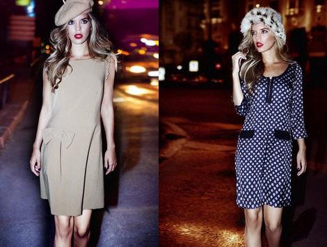 Los vestidos portagonizan la colección otoño/invierno 2012/2013 de Poète