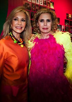 La diseñadora y Carmen Lomana