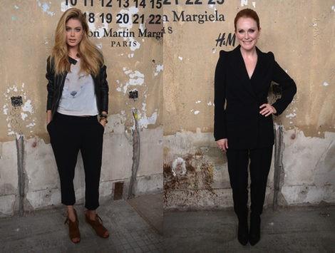 Doutzen Kroes y Julianne Moore en la fiesta de presentaciñon de Maison Martin Margiela para H&M