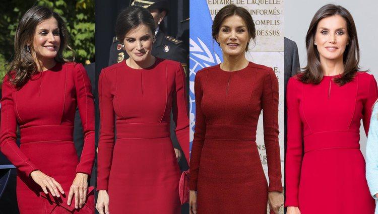 La Reina Letizia con el mismo vestido de Carolina Herra   Fotos: Bekia