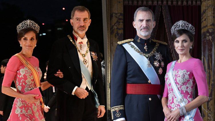 La Reina Letizia con mismo vestido largo de Carolina Herrera   Foto: Bekia