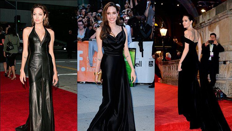 Angelina Jolie apuesta por el negro en las alfombras rojas