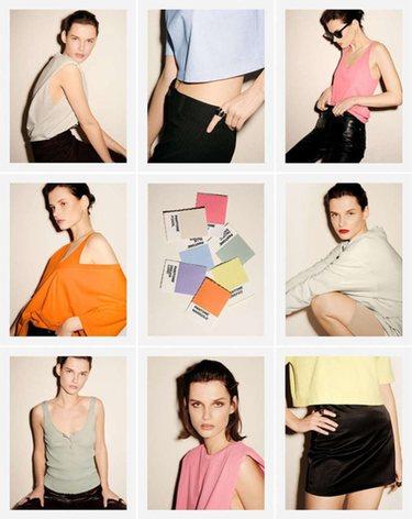 Zara y Pantone se unen en una colección   Foto: Zara