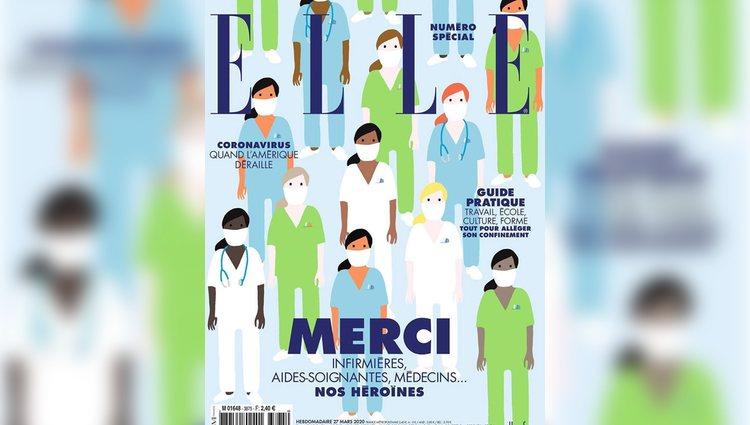 Edición especial de Elle Francia en homenaje al personal médico