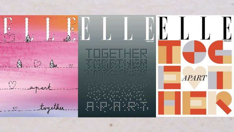 Elle India cuenta con tres portadas con ilustraciones que representan la realidad actual