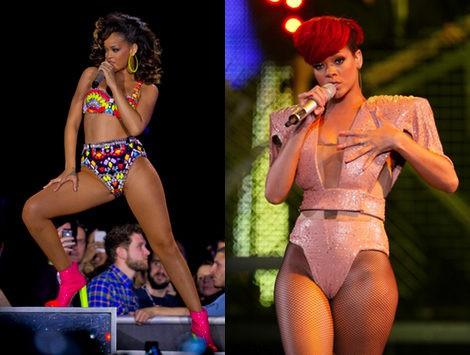 Rihanna elige los looks más atrevidos para salir al escenario