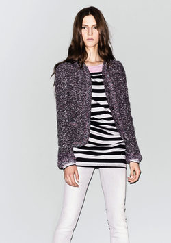 Chaqueta de tweed de Sisley
