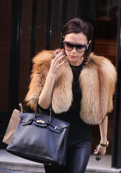 Victoria Beckham con una estola