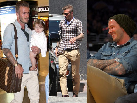 looks casual beckham