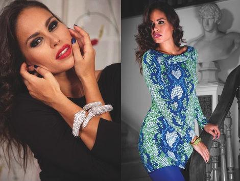 Mireia Canalda posando para la nueva colección otoño/invierno 2012/2013