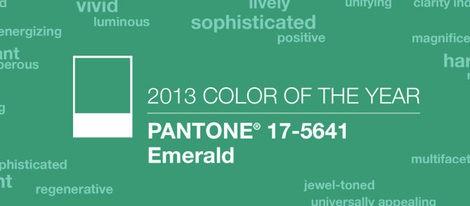 Verde esmeralda, el color del año 2013 según Pantone