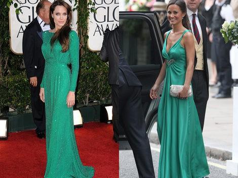 Angelina Jolie y Pippa Middleton ya apostaron por el verde esmeralda