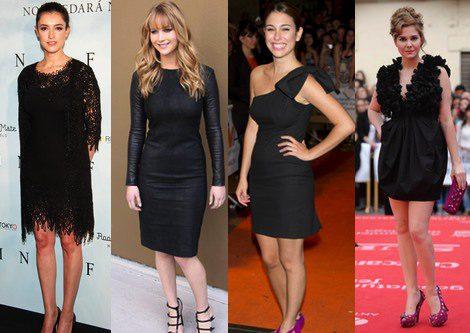 Vestidos cortos negros