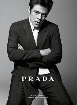 Prada presenta su colección primavera/verano 2013 con Benicio del Toro