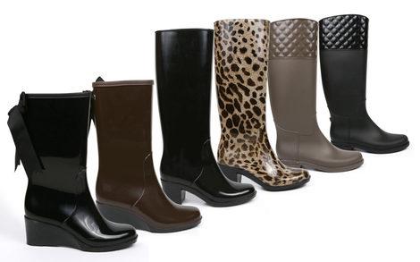 Resguarda tus pies del frío y la lluvia con las botas de agua de Alex Silva