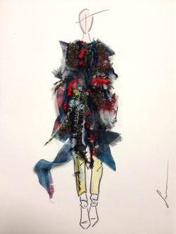Boceto de la colección de Sara Coleman