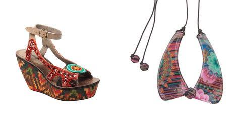 Calzado y complementos étnicos en la colección primavera/verano 2013 de Desigual