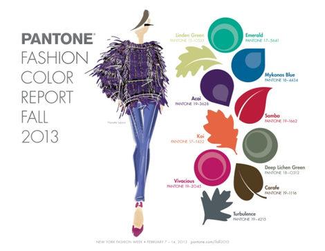 Paleta de colores para el otoño/invierno 2013/2014