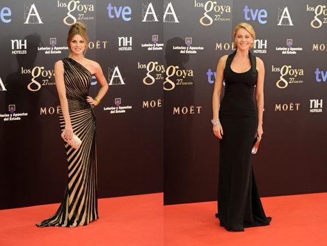 Amaia Salamanca y Belén Rueda en los Premios Goya 2013