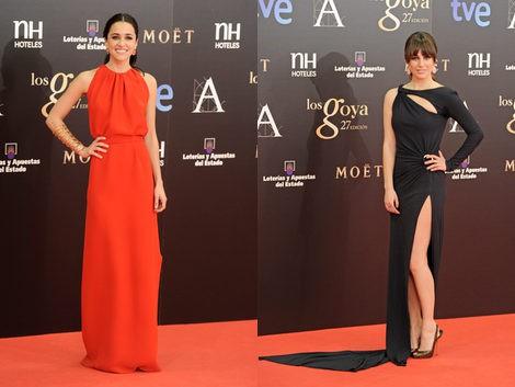 Macarena García y Blanca Suárez en los Premios Goya 2013