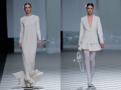 Dos modelos de David Delfín para el otoño/invierno 2013/2014