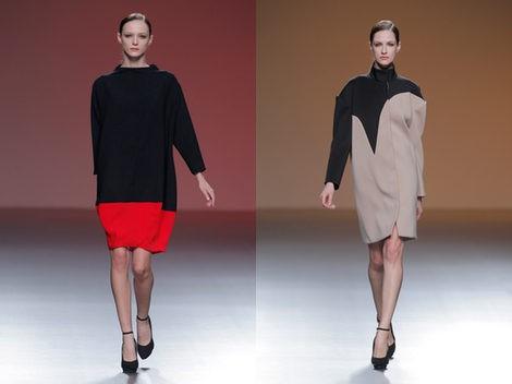 Dos vestidos de la colección otoño/invierno 2013/2014 de Amaya Arzuaga