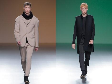 Propuestas masculinas de Amaya Arzuaga en Madrid Fashion Week