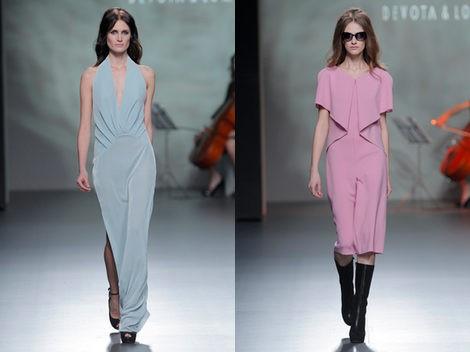 Dos vestidos de la colección otoño/invierno 2013/2014 de Devota & Lomba