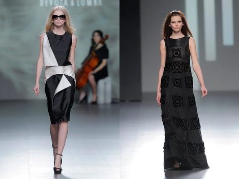 Combinación black&white de Devota & Lomba y vestido negro de Teresa Helbig