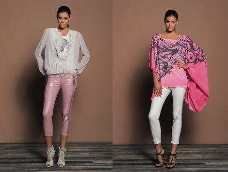 Dos looks en tonos rosas de la colección 'We Are Replay'