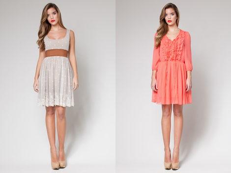 Dos vestidos de la colección 'OUI by Poète' para la primavera/verano 2013