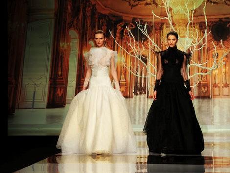 Vestidos bicolores de la colección 2014 de YolanCris