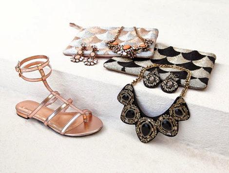 Sandalias, pendientes, clutchs y collares de la primavera/verano 2013 de Mango Touch