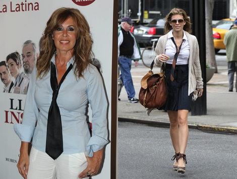 Miriam Díaz Aroca y Annalynne McLord, looks de corbata para todos los días