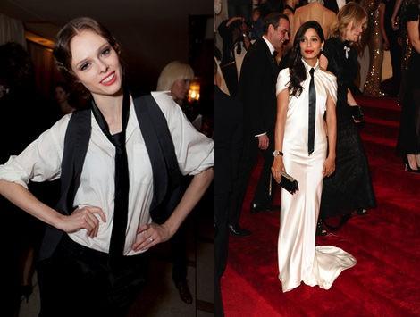 Los estilos vintage con corbata de Coco Rocha y Freida Pinto