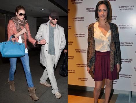 Looks casual de Rosie Huntington Whiteley y su novio y la actriz María León