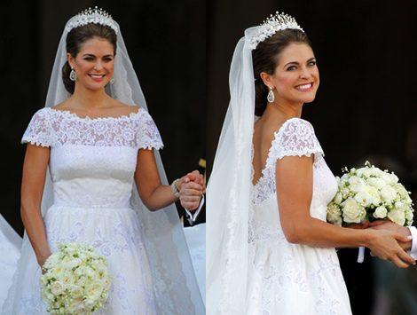 Detalles del vestido de novia de Valentino para Magdalena de Suecia