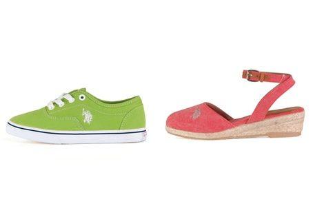 Zapatillas y cuñas de la colección infantil primavera/verano 2013 de U.S. Polo Assn.